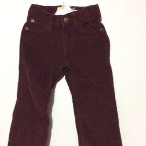 Burgundy pants for toddler. good condition.